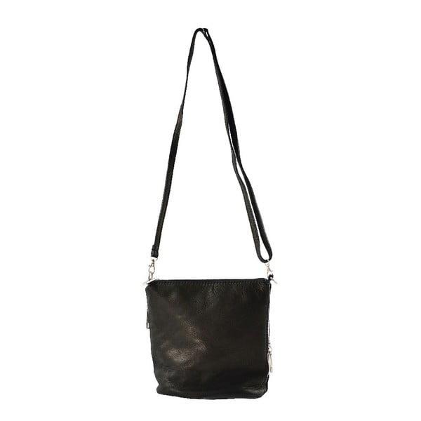 Skórzana torebka przez ramię Jeunnie, czarna
