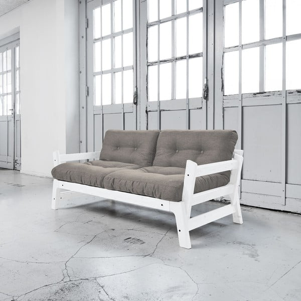 Sofa rozkładana Karup Step White/Granite Grey