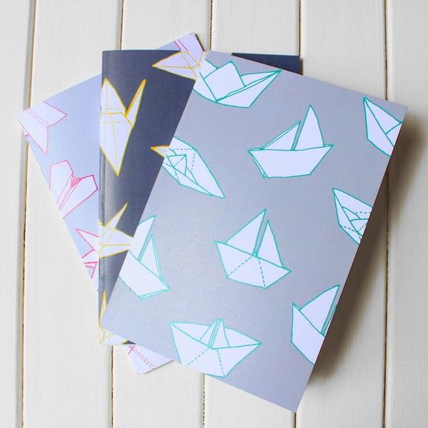 Komplet 3 notesów Origami A5