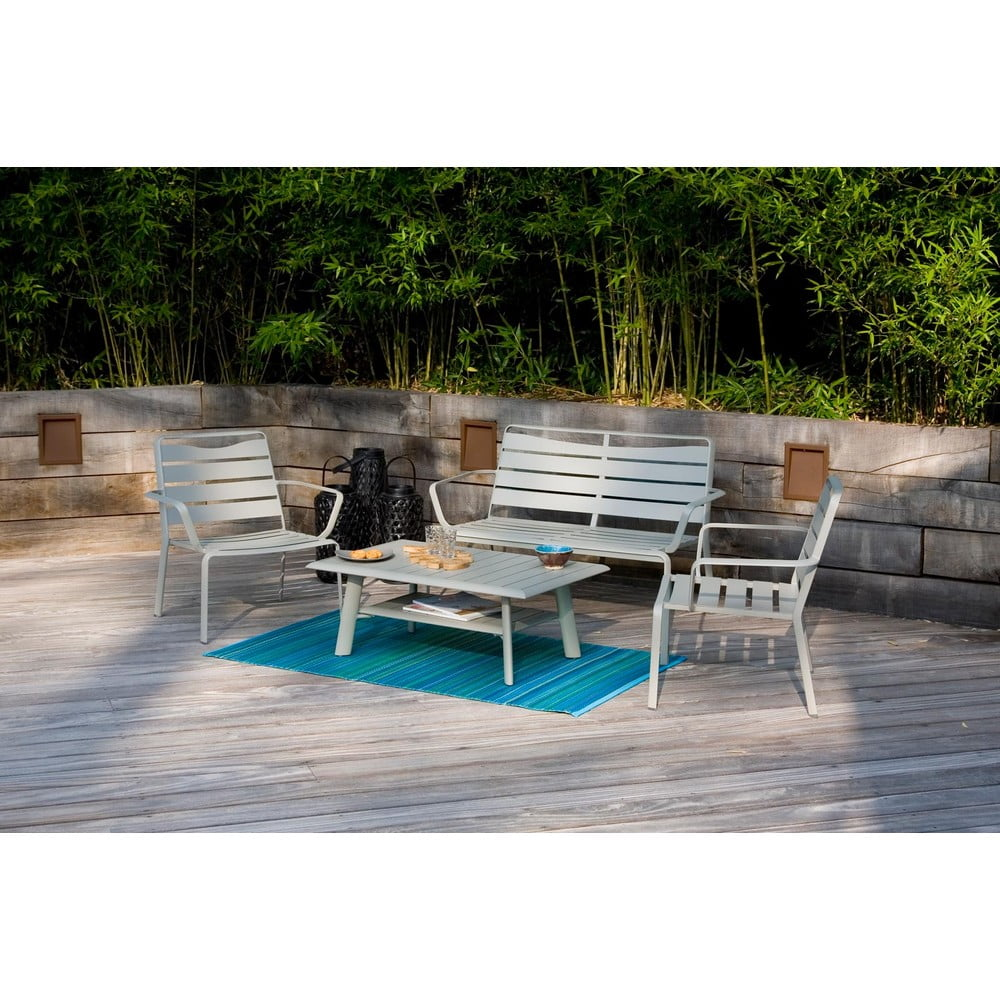 Zestaw stolika ogrodowego, krzeseł i ławki Ezeis Spring Lounge