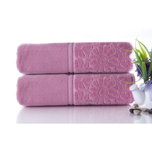 Zestaw 2 ręczników Samba Powder, 50x90 cm