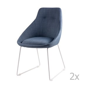 Zestaw 2 jasnoniebieskich krzeseł sømcasa Alba