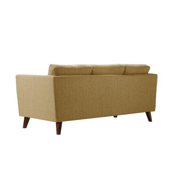 Żółta sofa trzyosobowa Jalouse Maison Elisa