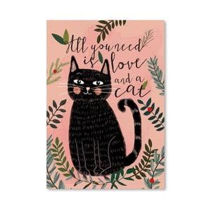 Plakat (projekt: Mia Charro) - All You Need Cat