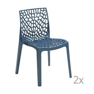 Zestaw 2 niebieskich krzeseł Castagnetti Apollonia