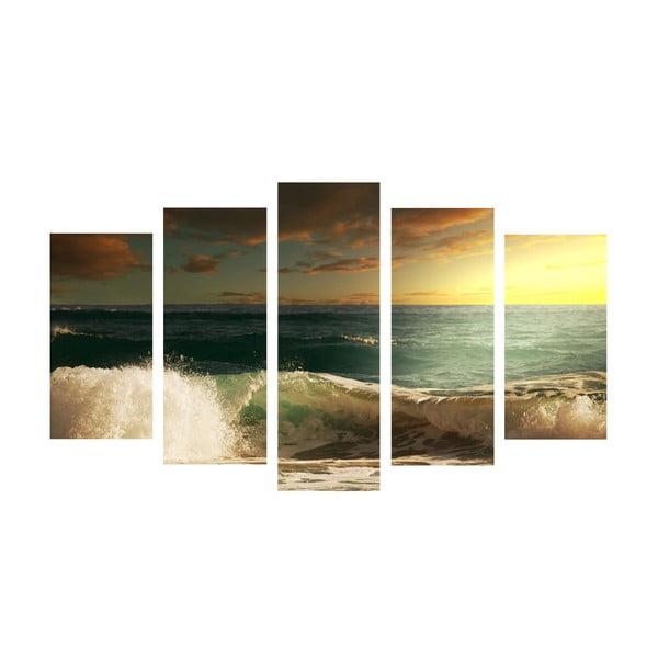 5-częściowy obraz Sea Wave, 60x100 cm