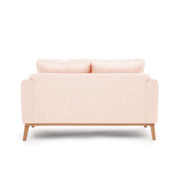 Jasnoróżowa sofa dwuosobowa VIVONITA Milton
