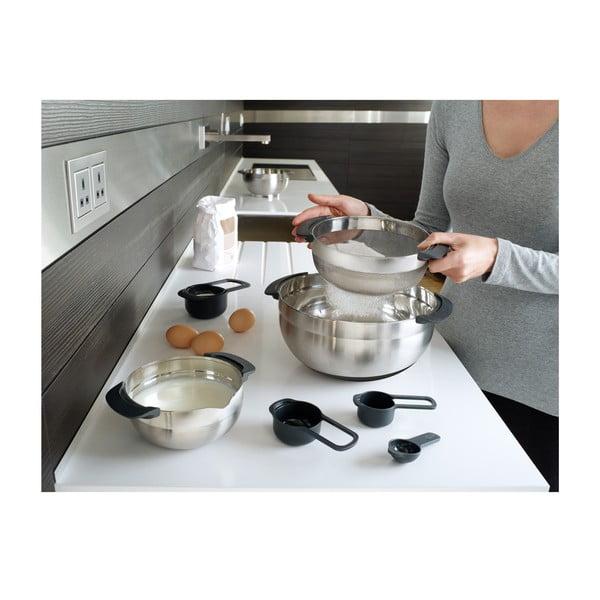 Zestaw 9 naczyń kuchennych ze stali nierdzewnej Nest