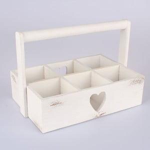 Drewniana skrzynka Heart, biała