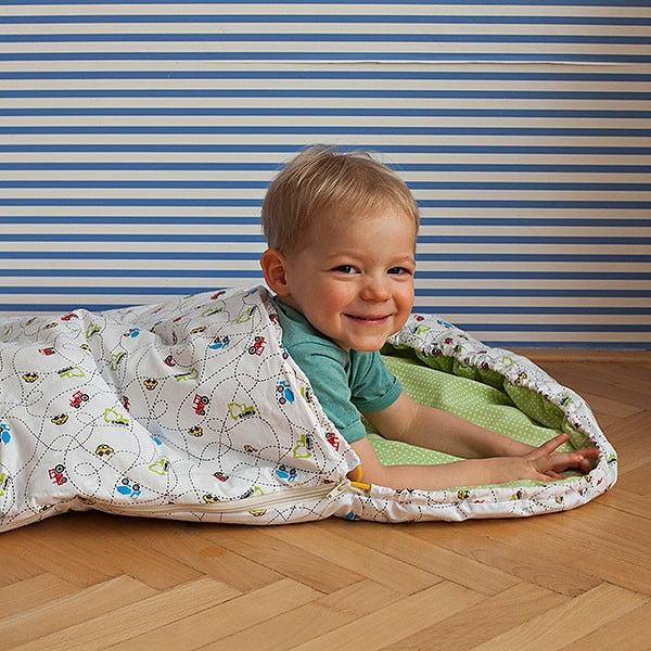 Śpiwór dziecięcy Bartex Samochodziki, 70x165 cm