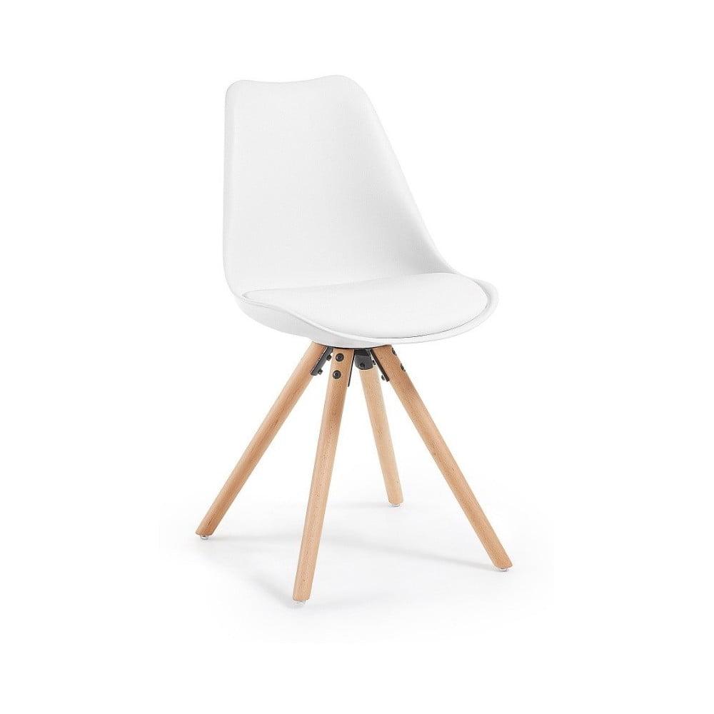 Modish Białe krzesło z drewnianymi nogami La Forma Lars   Bonami PV66