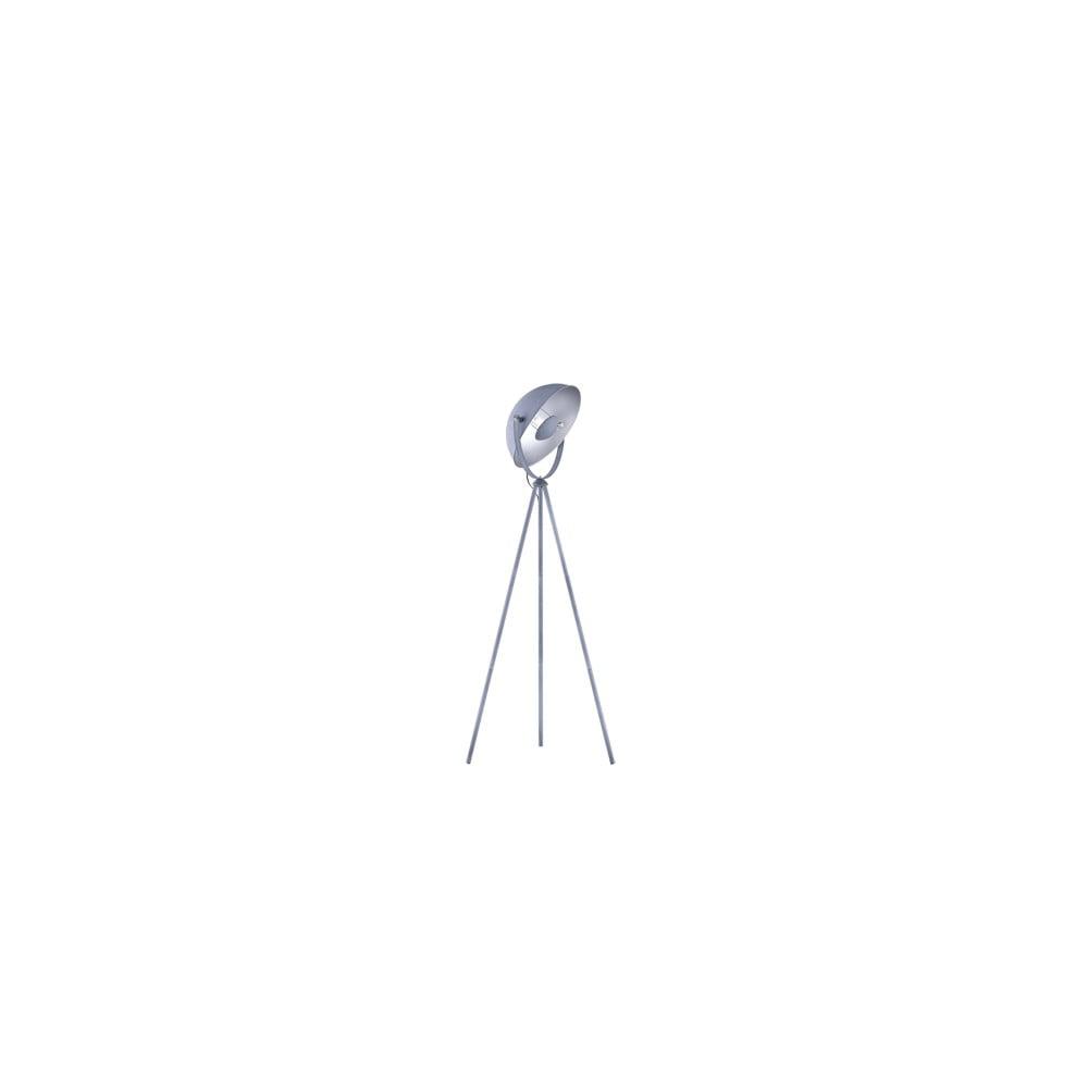 Szara metalowa lampa stojąca Trio Chewy, wys. 160 cm