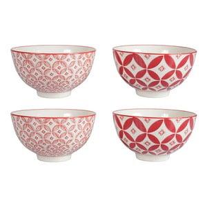 Zestaw 4 porcelanowych misek Rubis