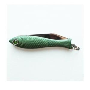 Scyzoryk rybka, ciemnozielony z kryształowym okiem