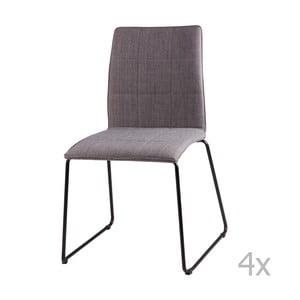 Zestaw 4 jasnoszarych krzeseł sømcasa Malina