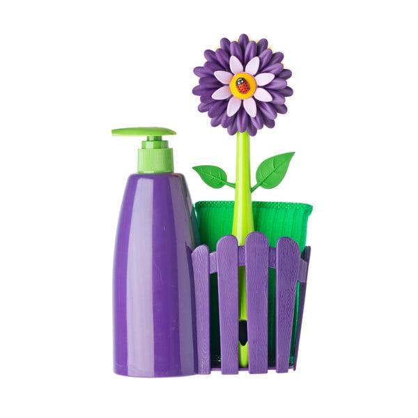Zestaw do mycia naczyń z dozownikiem Vigar Violet