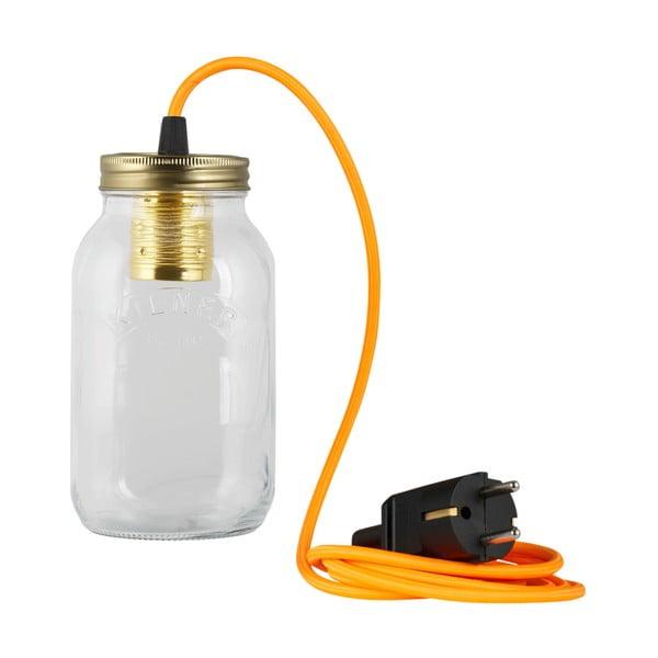 Lampa JamJar Lights, jaskrawy pomarańczowy okrągły kabel