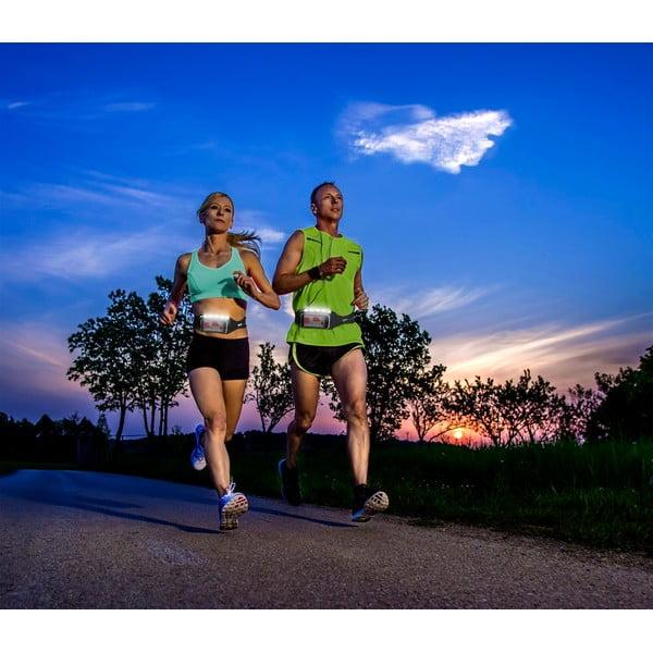 Pas do biegania CellularLine WAISTBAND RUNNING z szybką i LED diodami, czarny