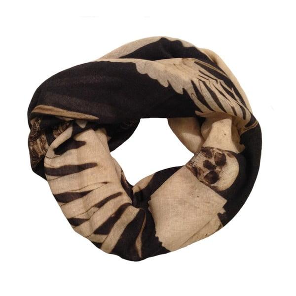 Wełniana chusta z dodatkiem kaszmiru Guns Black, 130x130 cm