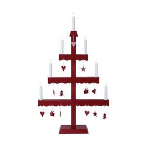 Świecznik LED Dingla, czerwony
