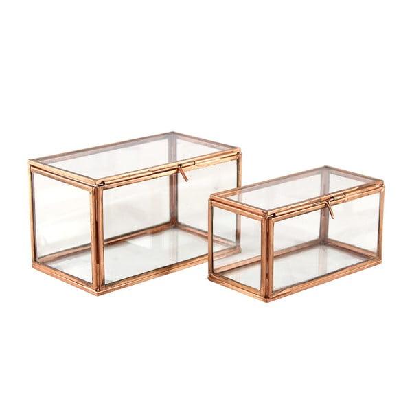 Zestaw szklanych pojemników