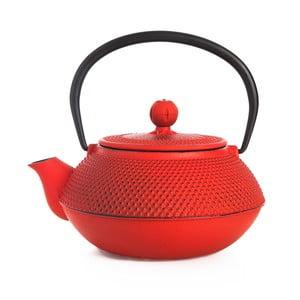 Czerwony czajnik żeliwny Bambum Taşev Linden, 800 ml