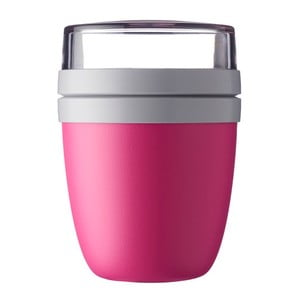 Jasnoróżowy pojemnik śniadaniowy na jogurt Rosti Mepal Ellipse
