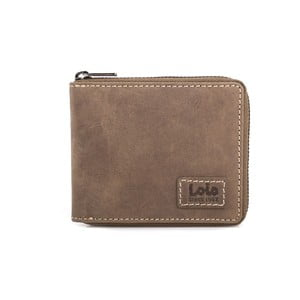 Skórzany portfel Lois Brownie, 10,5x8,5 cm