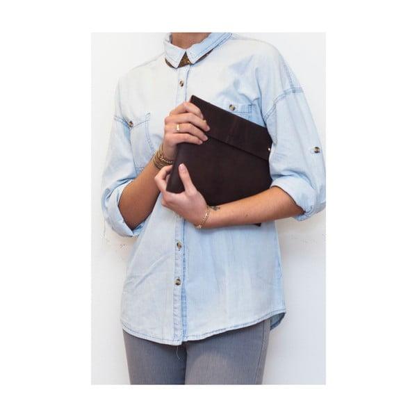 Skórzane etui na iPad Sleeve, ciemnobrązowe