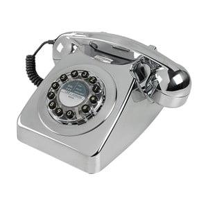 Telefon stacjonarny w stylu retro Serie 746 Brushed Chrome