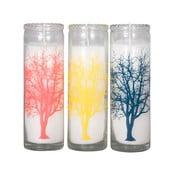 Zestaw 3 świeczek Color