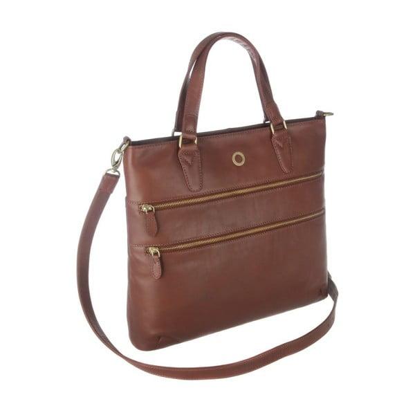Skórzana torba Phoebe Cognac
