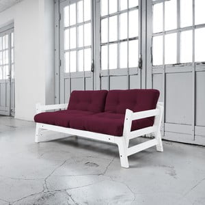Sofa rozkładana Karup Step White/Light Bordeaux