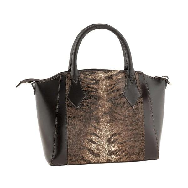 Skórzana torebka Gress Dark Brown
