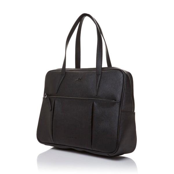 Skórzana torebka przez ramię Marta Ponti Negozio, czarna