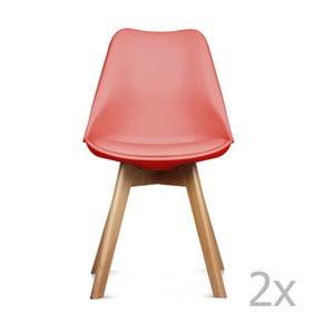 Zestaw 2 czerwonych krzeseł Opjet Scandinavie
