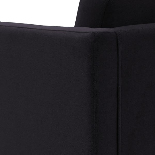 Sofa trzyosobowa VIVONITA Sondero Dark Grey, naturalne nogi