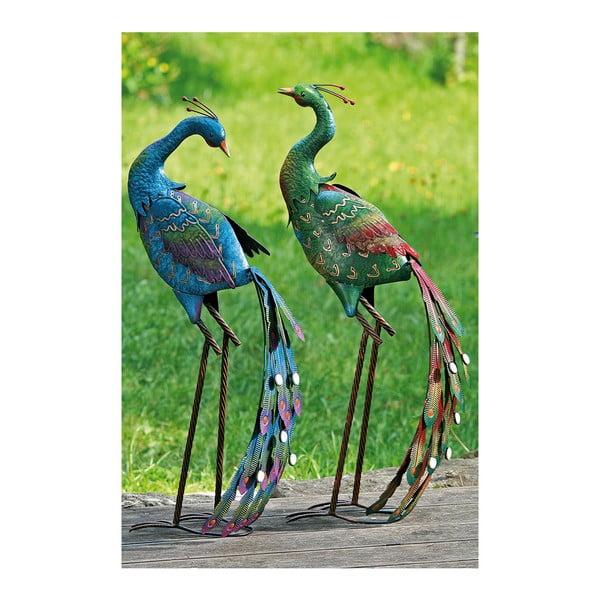Zestaw 2 dekrocyjnych pawi ogrodwych Peacock