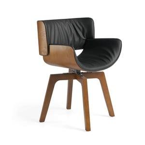 Fotel z konstrukcją z drewna orzechowego Ángel Cerdá Sully