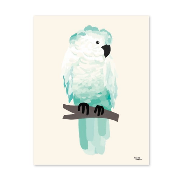 Plakat Michelle Carlslund Green Cockatoo, 50x70cm