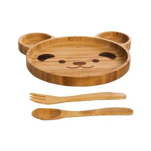 Bambusowy komplet dziecięcy do jedzenia Bambum Teddy