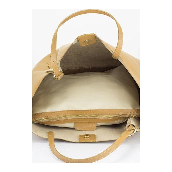 Karmelowa torebka skórzana Lisa Minardi Eunice