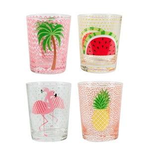 Zestaw 4 szklanek Sass & Belle Tropical Summer