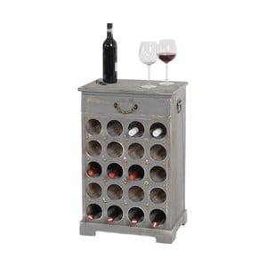 Stojak na wino (20 butelek) Shabby, szary