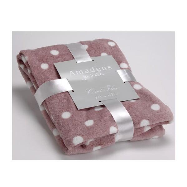 Koc Doudou Dot Pink, 100x75 cm