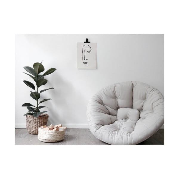Fotel rozkładany Karup Design Nest Dark Grey