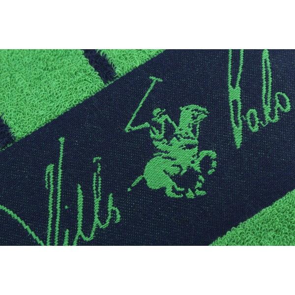 Ręcznik bawełniany BHPC 80x150 cm, zielono-niebieski