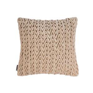 Beżowa poduszka ZicZac Waves, 45x45 cm