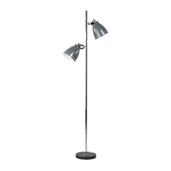 Szara lampa stojąca Acate Jay
