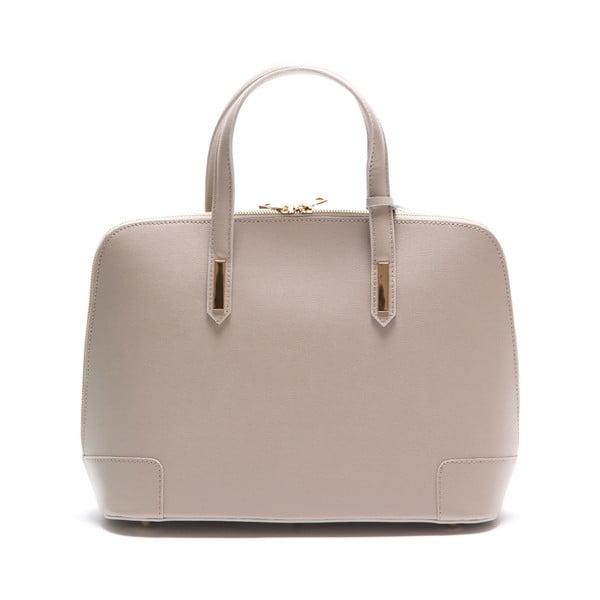 Beżowa skórzana torebka Luisa Vannini 422
